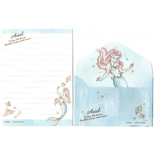 Conjunto de Mini Papel de Carta Disney Ariel CAZ