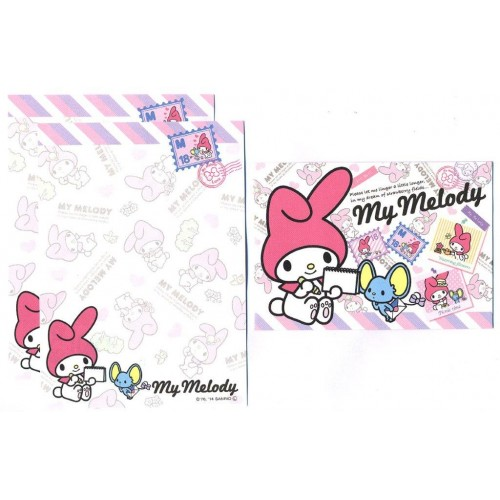 Ano 2014. Conjunto de Mini-Papel de Carta My Melody Seal1 - Sanrio