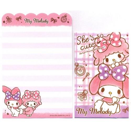 Ano 2014. Kit 2 Conjuntos de Mini-Papel de Carta My Melody So Cute - Sanrio