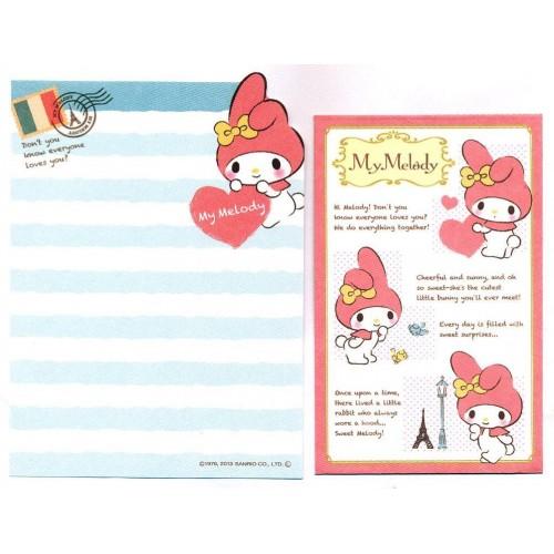 Ano 2013. Kit 2 Conjuntos de Mini-Papel de Carta My Melody Travel - Sanrio