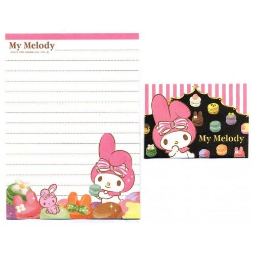 Ano 2014. Kit 2 Conjuntos de Mini-Papel de Carta My Melody Macaron- Sanrio