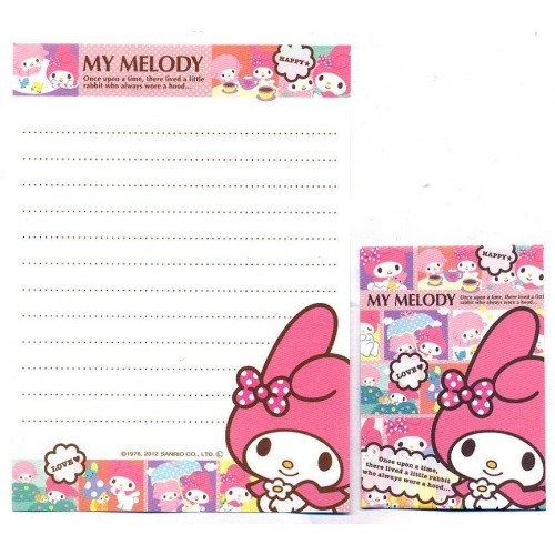 Ano 2015. Kit 2 Conjuntos de Mini-Papel de Carta My Melody Hood - Sanrio