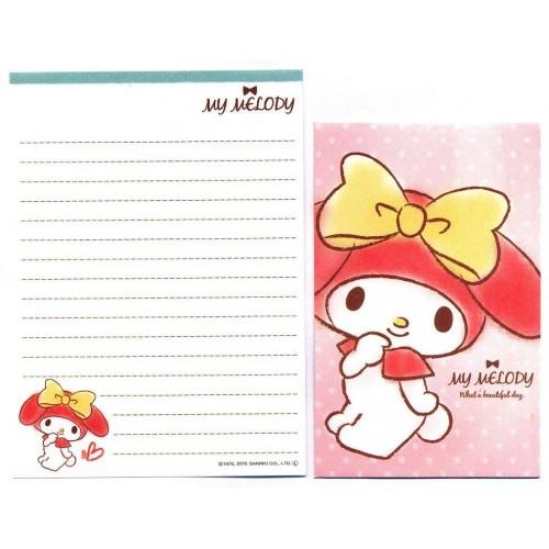 Ano 2015. Conjunto de Mini-Papel de Carta My Melody Wonderful Day CRS Sanrio