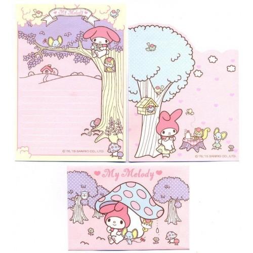Ano 2015. Conjunto de Papel de Carta P My Melody Sanrio