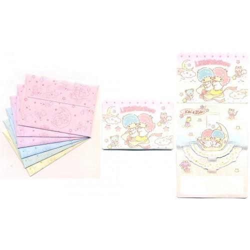 Ano 2016. Kit Mini-Cartão de Mensagem Little Twin Stars Sanrio