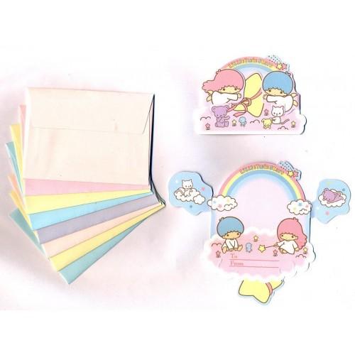 Ano 2011. Kit Mini-Cartão de Mensagem Little Twin Stars Sanrio