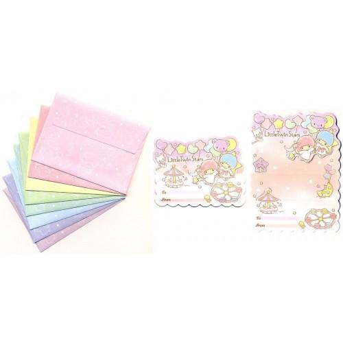 Ano 2014. Kit Mini-Cartão de Mensagem Little Twin Stars Sanrio