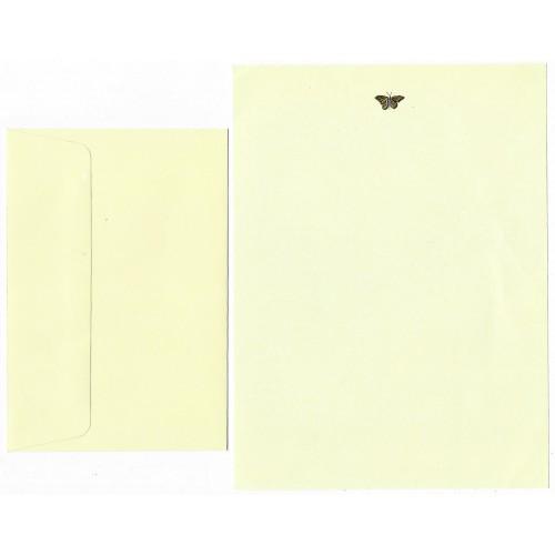 Conjunto de Papel de Carta Coleção Peter Pauper Borboleta