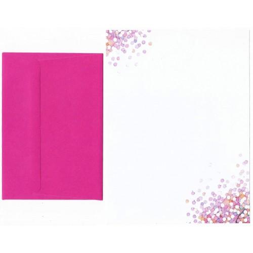 Conjunto de Papel de Carta Coleção Peter Pauper Pink