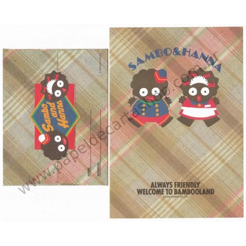 Ano 1985. Conjunto de Papel de Carta Sambo and Hanna Vintage Sanrio
