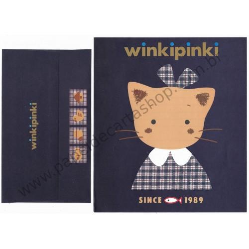 Ano 1991. Conjunto de Papel de Carta Winkipinki CAZ Vintage Sanrio