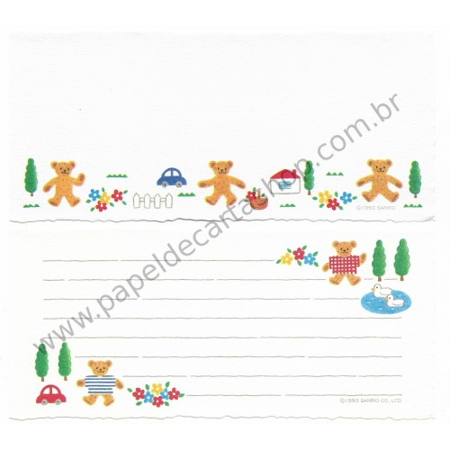 Ano 1993. Kit 2 Notas Grandes Honeyfield Vintage Sanrio