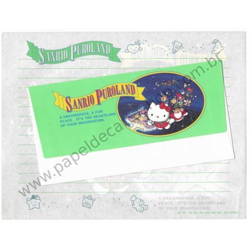 Ano 1990. Conjunto de Papel de Carta Sanrio Puroland