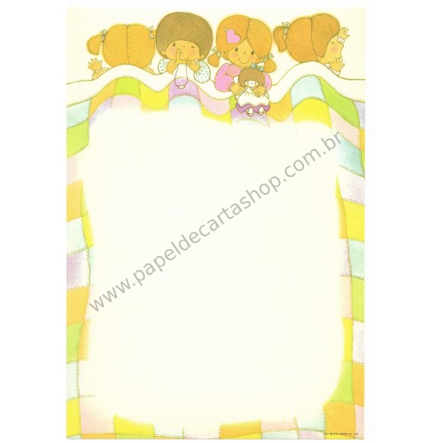 Ano 1976. Papel de Carta AVULSO Small People Lil'Dreamers Vintage Sanrio