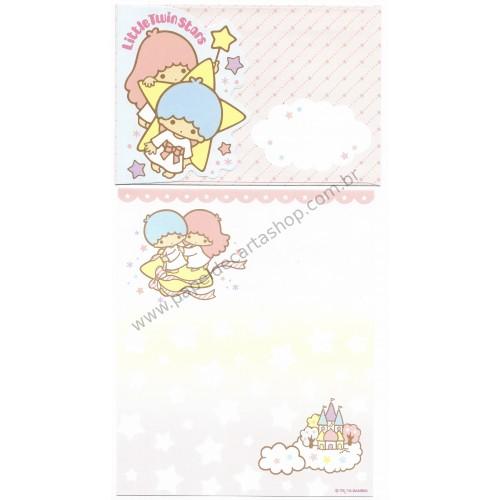 Ano 2013. Kit 2 Conjuntos de Papel de Carta Little Twin Stars RSLL Sanrio