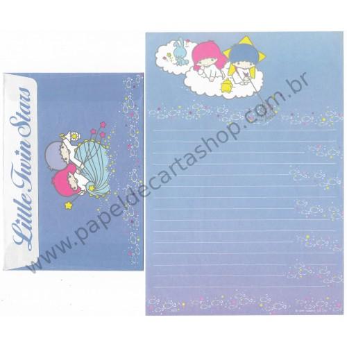 Conjunto de Papel de Carta Antigo Little Twin Stars Fishing Sanrio Soft Paper