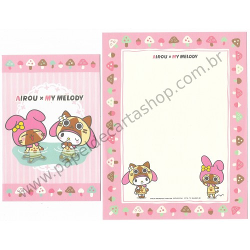 Ano 2012. Conjunto de Papel de Carta Airou x My Melody2 Sanrio