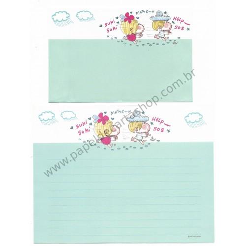 Conjunto de Papel de Carta com envelope ADO MIZUMORI 0046