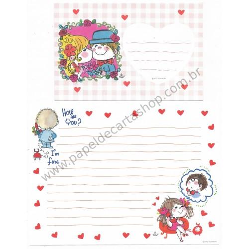 Conjunto de Papel de Carta com envelope ADO MIZUMORI 0047