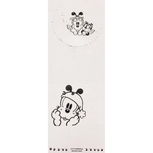 Conjunto de Papel de Carta Antigo (Vintage) Little Bobdog White Wealthyluck Sunward
