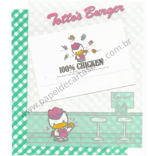 Conjunto de Papel de Carta Antigo (Vintage) Totto's Burger