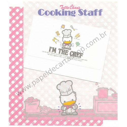 Conjunto de Papel de Carta Antigo (Vintage) Totto Chan's Cooking Staff