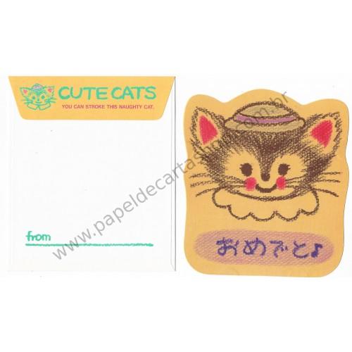 Conjunto de Papel de Carta Antigo (Vintage) Cute Cats CLL