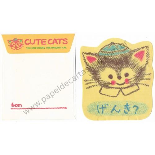 Conjunto de Papel de Carta Antigo (Vintage) Cute Cats CVD