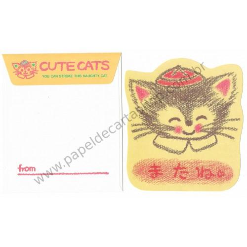 Conjunto de Papel de Carta Antigo (Vintage) Cute Cats CVM