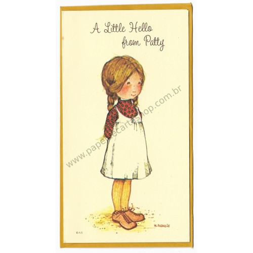 Notecard Antigo Holly Hobbie A Little Hello from Patty - American Greetings