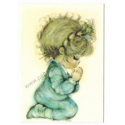 Cartão Antigo Importado Mary Hamilton Prayer - Hallmark