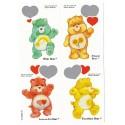 Kit 4 Mini-Cartões de Mensagem Valentines Antigo Importado Ursinhos Carinhosos3