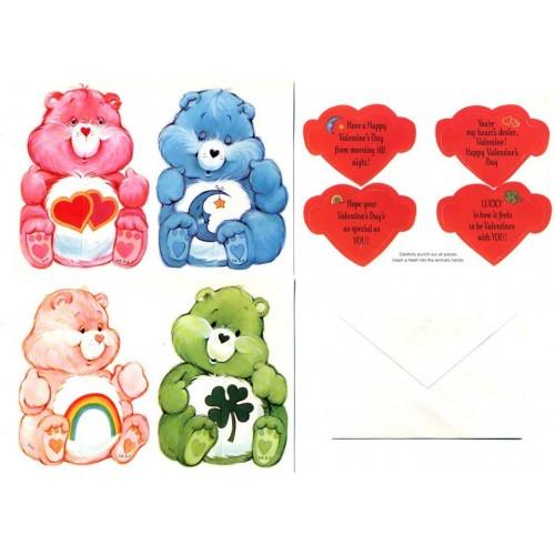 Kit 8 Cartões de Mensagem Valentines Antigo Importado Ursinhos Carinhosos3