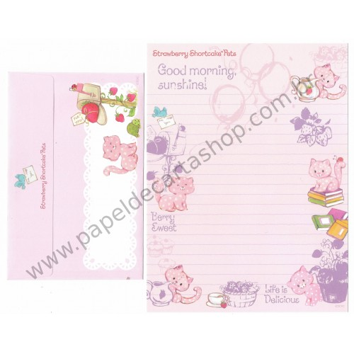 Conjunto de Papel de Carta IMPORTADO Strawberry Shortcake Pets