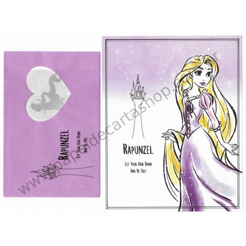 Conjunto de Papel de Carta Rapunzel Disney Daiso