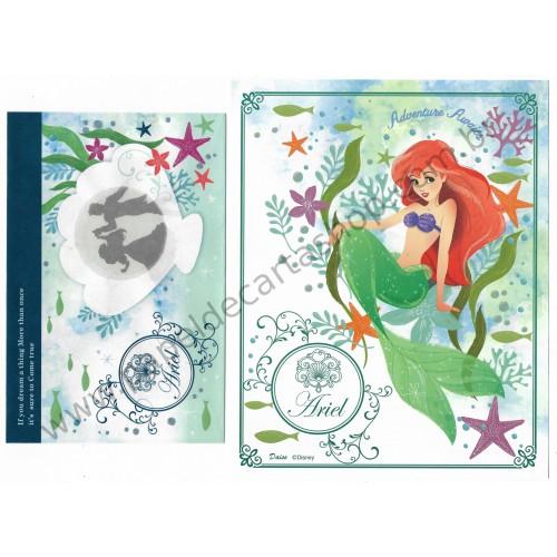 Conjunto de Papel de Carta Ariel Disney Daiso