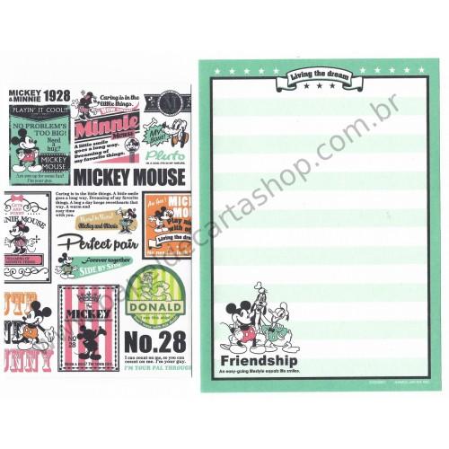 Mini Conjunto de Papel de Carta Disney Mickey Forever Together - Kamio Japan