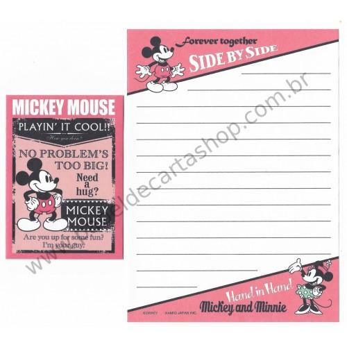 Mini Conjunto de Papel de Carta Disney Mickey Forever Together2 - Kamio Japan