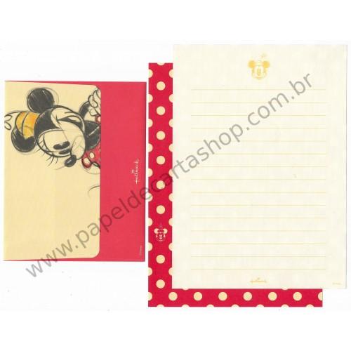 Conjunto de Papel de Carta Disney Minnie Red Dots - Hallmark