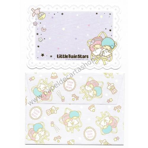 Ano 2015. Mini-Cartão de Mensagem Little Twin Stars Ribbon Sanrio