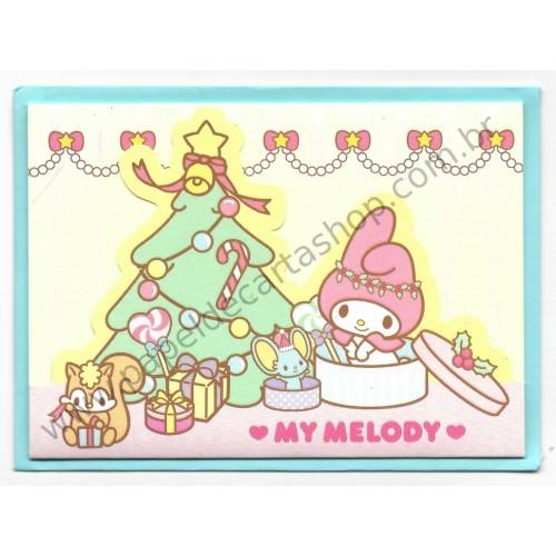 Ano 2014. Cartão Merry Christmas My Melody (TREE) SANRIO
