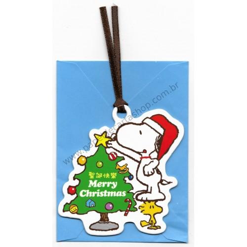 Ano 2015. Cartão Tag Merry Christmas Snoopy SN-X Peanuts