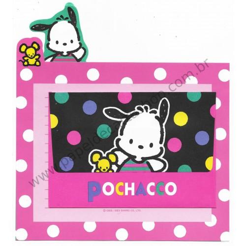 Ano 1993. Conjunto de Papel de Carta Pochacco Q Antigo (Vintage) Sanrio