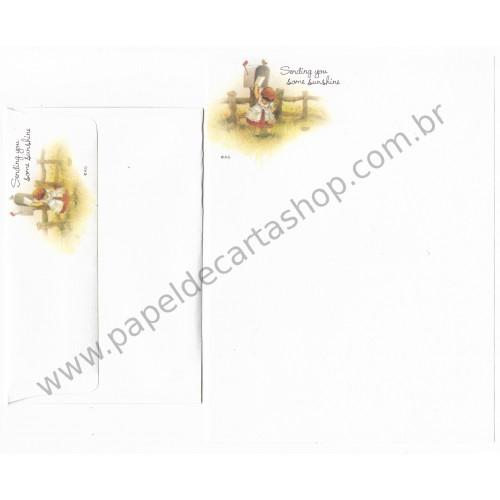 Conjunto de Papel de Carta Antigo Importado Barbi Sargent AG