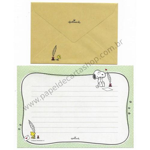 Ano 2014. Conjunto de Papel de Carta Snoopy Pen Hallmark