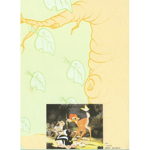 Papel de Carta Antigo Disney Bambi - Best Cards