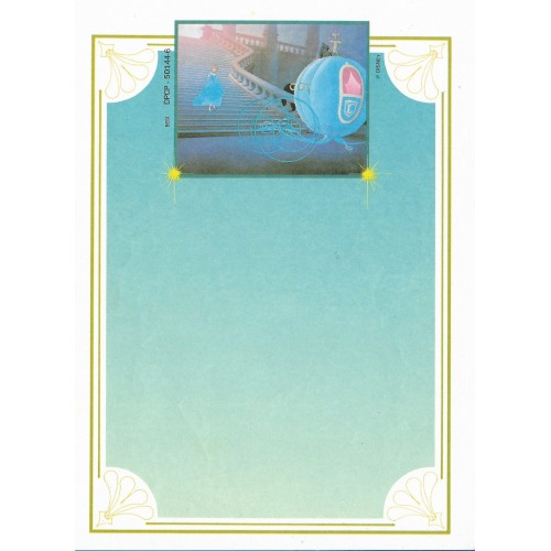Papel de Carta Antigo Disney Cinderella - Best Cards