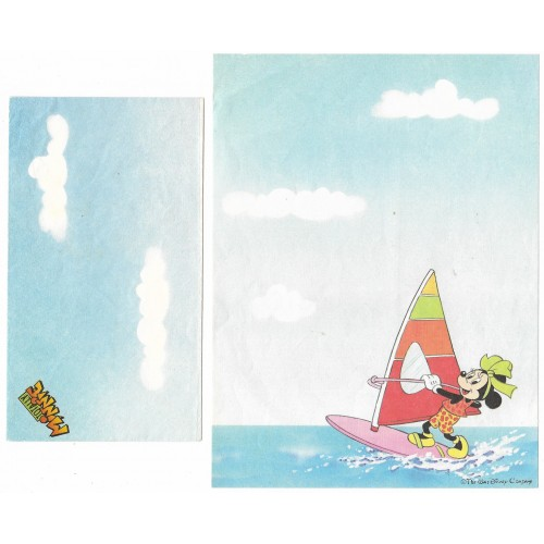 Conjunto de Papel de Carta Antigo Disney Minnie Windsurf - Soft Paper