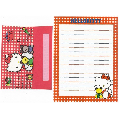 Conjunto de Papel de Carta Antigo Hello Kitty & Bear XDZ