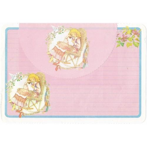 Conjunto de Papel de Carta ANTIGO Sunny & Candy CRS1